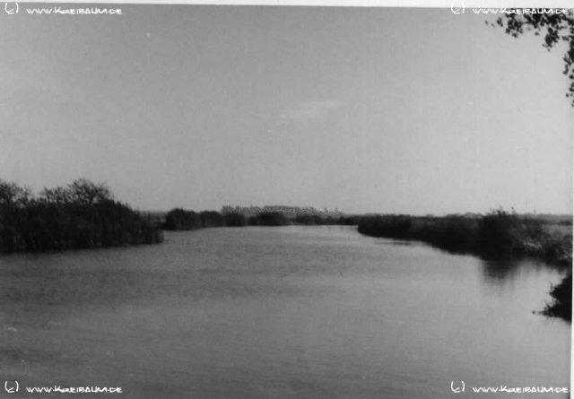 Blick über die Innerste nach Arbergen, 1950